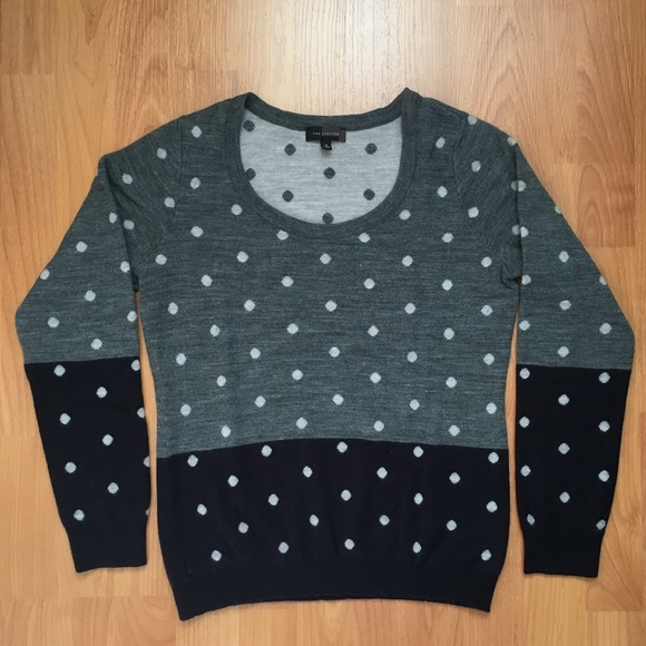 The Limited Women's Polka Dot Two Toned Sweater M